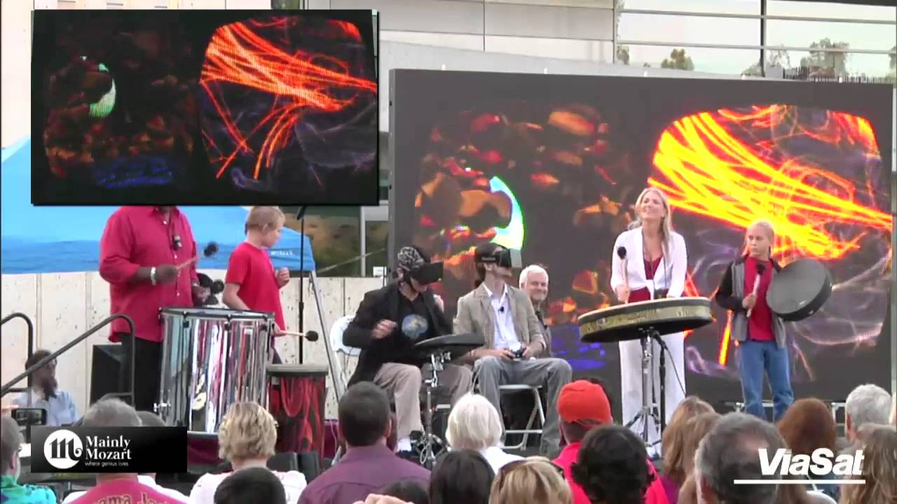 Epic Rhythm Experience With Mickey Hart and the Glass Brain at Mozart & the Mind 2014